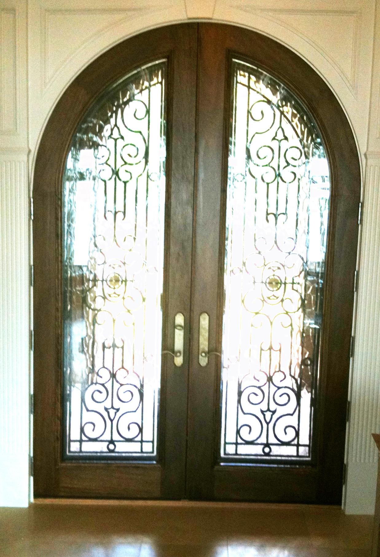 6090 radius top Mahogany custom door