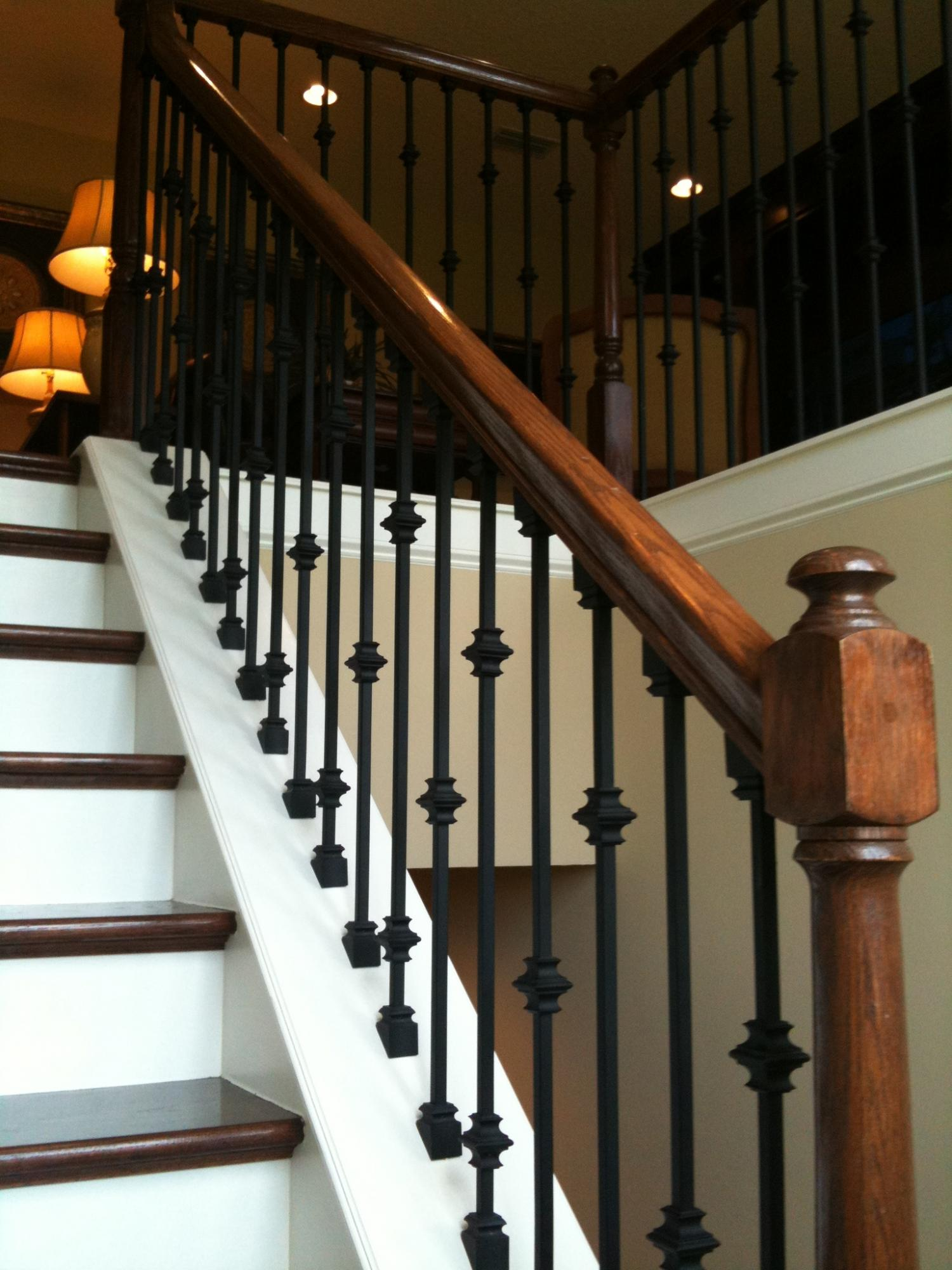 Open rail iron balusters