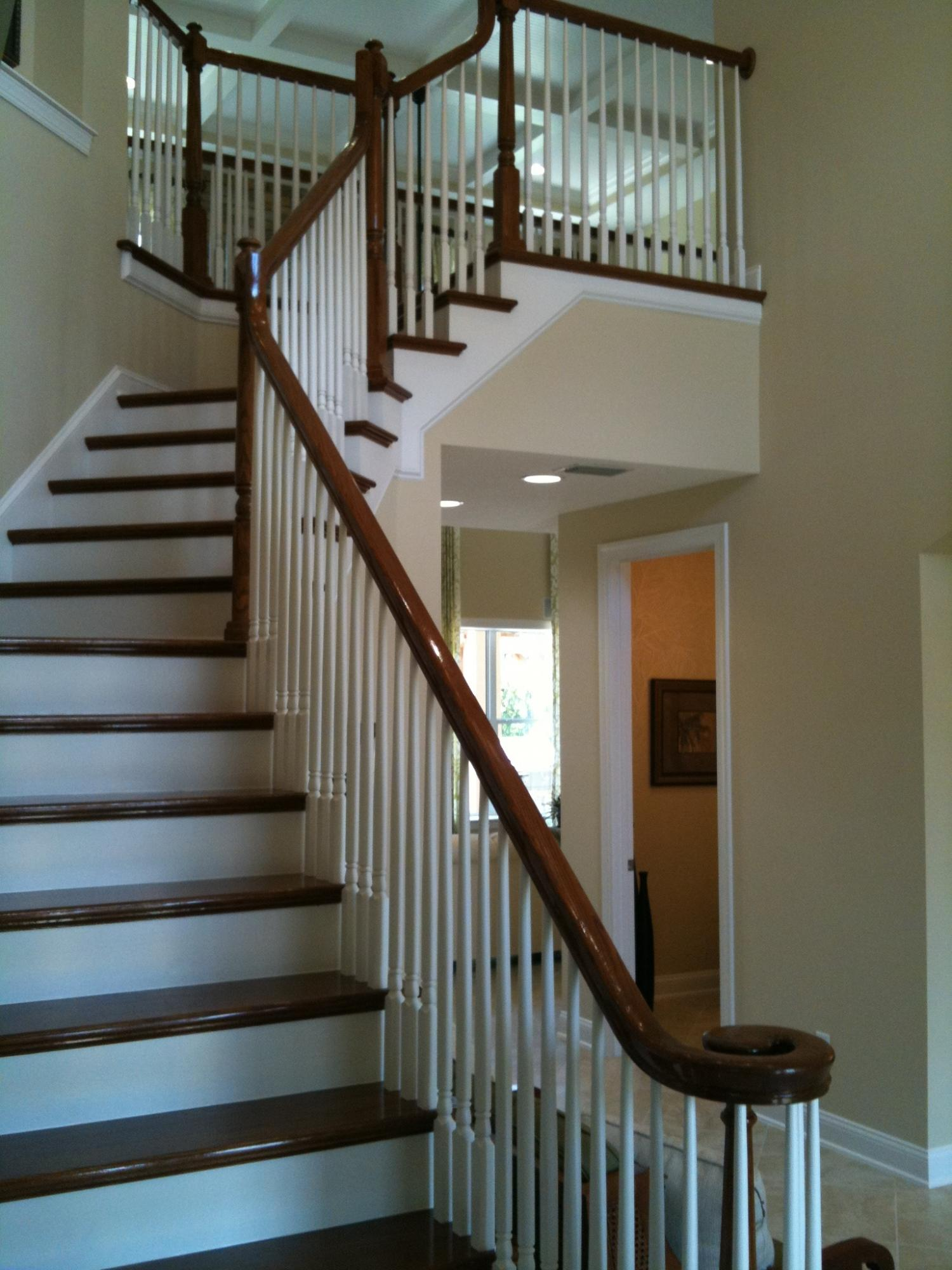 Open Rail Oak handrail