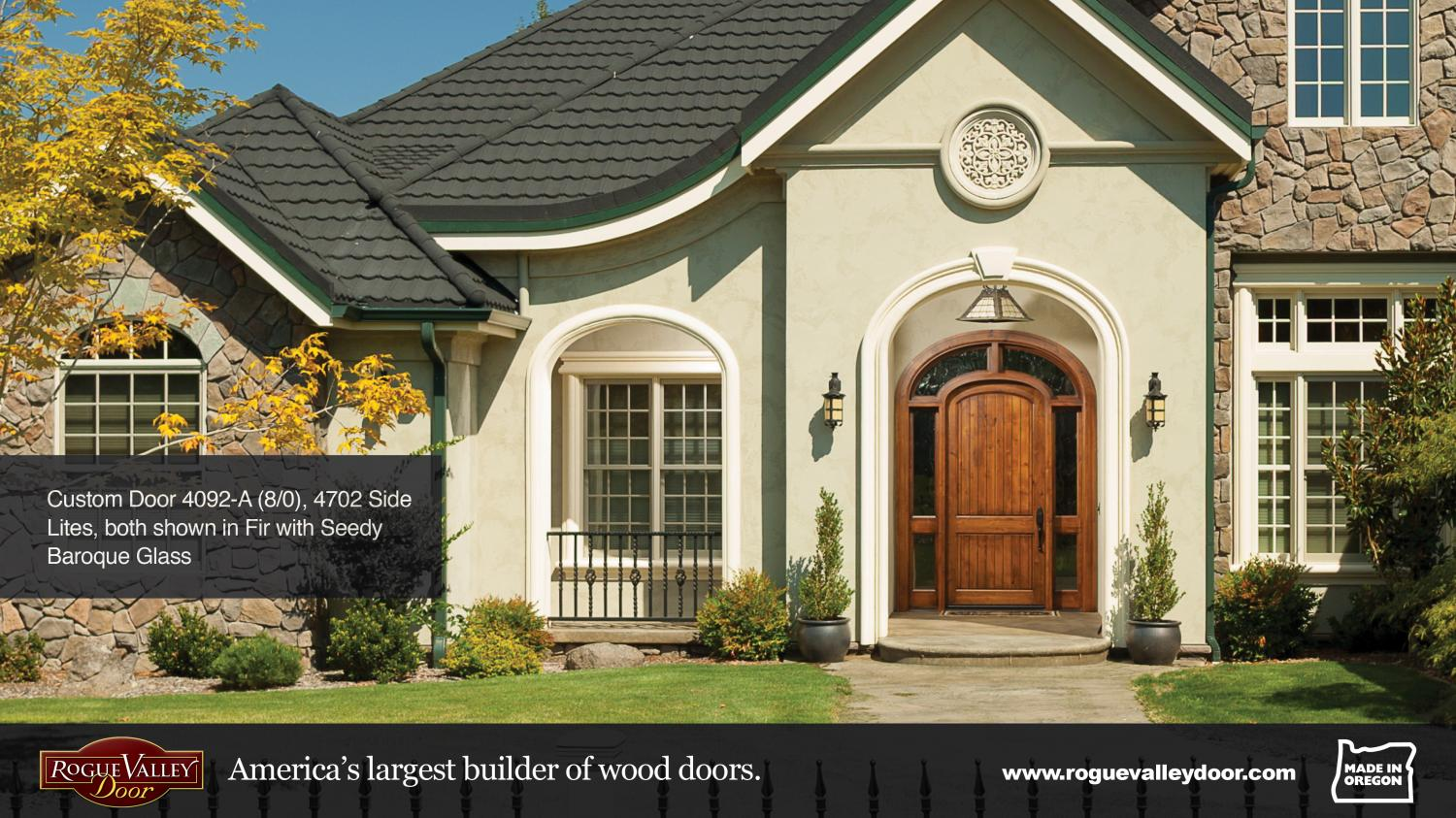 Custom Mahogany Door with arch surround